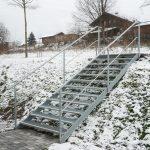 Rutschsichere Stiege im Außenbereich von Eisl & Söhne – St. Wolfgang im Salzkammergut