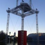 Unterkonstruktion der Adventkerze in St. Wolfgang und Verankerungswinden für das Floß von Eisl & Söhne – St. Wolfgang im Salzkammergut